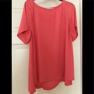 Like new flamingo colored blouse